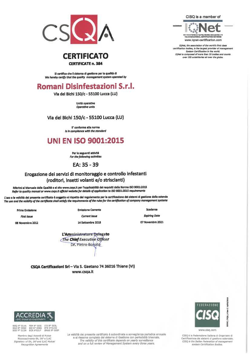 Certificazione_Romani_Disinfestazioni_Srl